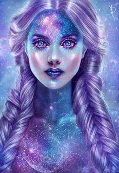 Dark Fantasy Art, Beautiful Fantasy Art, Fantasy Girl, L'art Du Portrait, Art Mignon, Goddess Art, Digital Art Girl, Pretty Art, Love Art