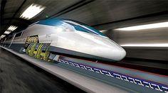 En diciembre de 2003, en Japón, un tren de prueba con tres vagones Transrapid alcanzó el máximo de velocidad de 581 km/h y en Francia (2007), un tren sobre ruedas a 574.8 km/h. La velocidad máxima comercial del Transrapid es de 430 km/h en China, con lo cual aventaja a los trenes sobre ruedas, que es de 320 km/h en Francia.