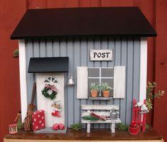 Briefkasten aus Holz, skandinavischer Stil,grau... von Pascalou auf DaWanda.com