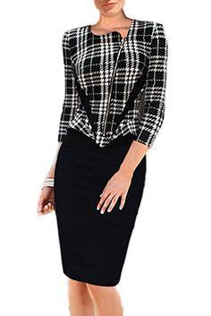 Elegant Damen Büro Formelle Business Arbeit Party Mantel Tunika Stift Minikleid