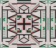 line_mandala_multi fabric by holli_zollinger on Spoonflower - custom fabric