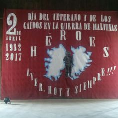 Telon para acto de Malvinas Falklands War, Ideas Para, Backdrops, School, Gardens, War, Infant Learning Activities, Veterans Day, Important Dates
