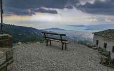 ΜΑΚΡΥΝΙΤΣΑ Kai, Destinations, Outdoor Furniture, Outdoor Decor, Places Ive Been, Greece, Mountains, Beach, Nature