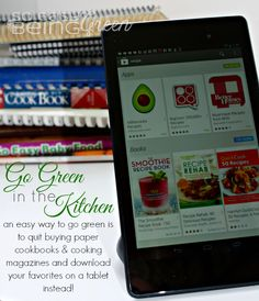 Going Green in the Kitchen with my Google Nexus 7 Tablet