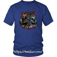Skull T-shirt - Two skulls Shop NOW! #shirt #skull #print #promote