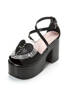 Doux Lolita Chaussures Lady Loisirs Quotidiens Chaussures Amour Épais Talon Chaussures Sangle Croix Sandale