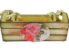 Corte Láser Mdf Madera-Florero Con Flores 14cms por 19cms