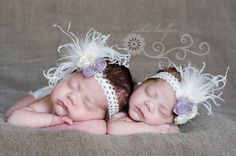 Lavender & Ivory Lace Rosette Vintage Flower Headband