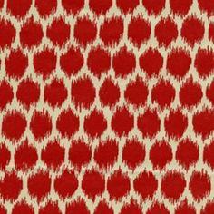 Seeing Spots Lipstick Cotton Drapery Fabric by Waverly