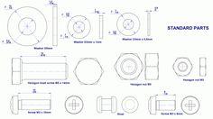 Sheet-metal truck models plans - Standard parts drawings