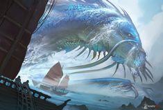 Blue Dragon, Victor Fernández on ArtStation at https://www.artstation.com/artwork/B9ry9