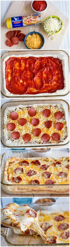 Deep Dish Pizza Casserole. Only 4 ingredients kids! This is a lazy day dinner dish for sure.