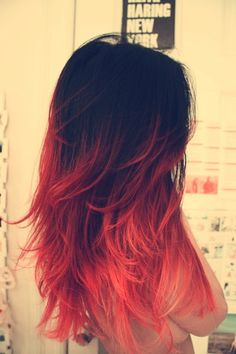 black hair with red tips - Google Search