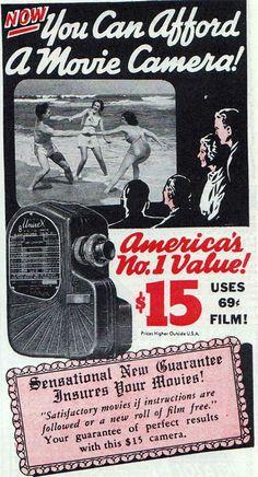 Univex 8mm movie camera ad. #uncommonshop