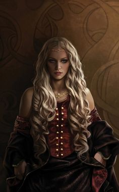 "Princess Rhaenyra, the Realm's Delight. Art from ""The World of Ice and Fire""."
