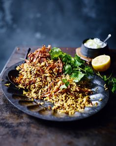 This Ottolenghi-inspired dish of rice and lentils is full of warming Lebanese flavours – a comforting dinner recipe for those cooler nights.