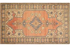 "Turkish Oushak, 4'2"" x 6'9"" on OneKingsLane.com As described by Nalbandian  Carpets from Oushak are valued for their mellow colors and the high quality of their wool, and they complement just about every decor."
