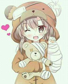 Teddy Bear Anime Girl : teddy, anime, Anime, Teddy, Ideas, Girl,, Anime,