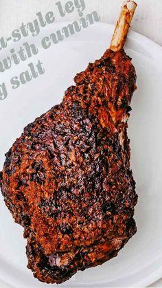 Mechouia-style leg of lamb with cumin dipping salt