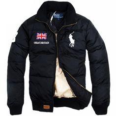 Ralph Lauren Men's Handsome Quilted Jacket in Black [Ralph Lauren Outlet-120]