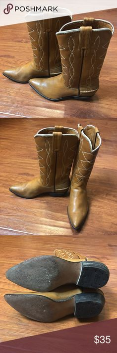 Justin Boots Tan Size 6C Justin Women's Boots Size 6C Justin Boots Shoes