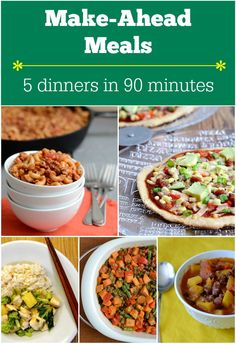 You can make five healthy dinners in 90 minutes on Sunday afternoon. Dinner prep for the week is done! You have to try this.