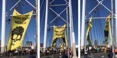 [WATCH] Greenpeace shuts down Nelson Mandela Bridge Climate Action, Nelson Mandela, Renewable Energy, Solar, Bridge, Watch, Travel, Clock, Viajes