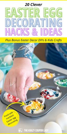 Looking for Easter egg decorating hacks & easy Easter DIY, crafts, decoration, & basket ideas? The Krazy Coupon Lady has got you covered with fun, simple ways to celebrate your best Easter yet. Get Easter egg dying tips & hacks, easy indoor kids Easter craft ideas, unique egg dye techniques, basket alternatives for kids, simple spring decor DIYs, and a simple Easter bath bomb recipe that's perfect when asking how to keep your kids busy at home- party or no party! Easter Toys, Plastic Easter Eggs, Egg Decorating, Decorating Hacks, Making Easter Eggs, Liquid Food Coloring, Bath Bomb Recipes, Easter Traditions, Food Displays