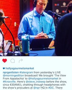 #regram from @nprgenlisten of yesterday's live #broadcast from Holly's! Thanks again @npr @steve_inskeep @morningedition #knoxrocks  Holly's Gourmets Market  #Knoxville #Catering #Wedding #Lunch #Breakfast #Restaurant