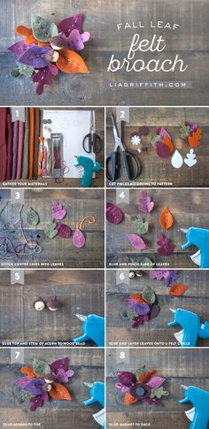 DIY Fall Leaf Felt Brooch from MichaelsMakers Lia Griffith