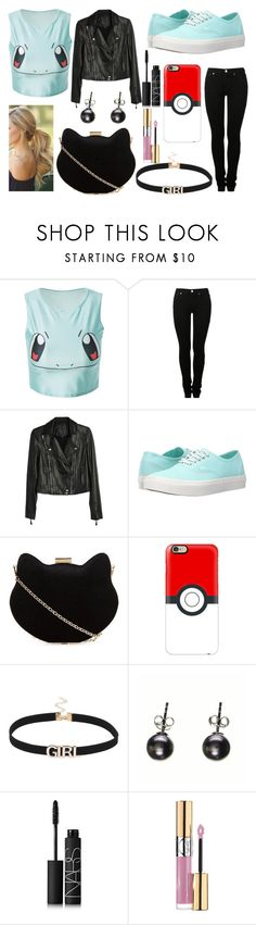 """Grab and Go: Cute Clutches"" by glitterunicorns-are-awesome ❤ liked on Polyvore featuring MM6 Maison Margiela, Paige Denim, Vans, New Look, Casetify, Black, NARS Cosmetics, Yves Saint Laurent and clutches"