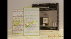 Geburtstagskarte mit dem Stamparatus von Stampin' Up!