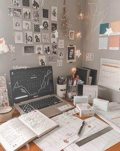 Study Room Decor, Cute Room Decor, Study Rooms, Study Space, Home Decor Bedroom, Study Areas, Bedroom Ideas, Science Room Decor, Bedroom Plants