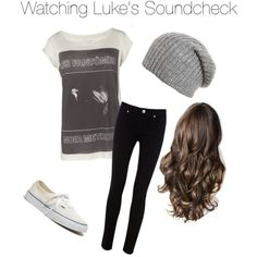 Watching Luke's Soundcheck, created by unfperrie on Polyvore