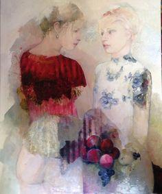 by Françoise de Felice Painting Collage, Figure Painting, Paintings, Art Floral, Art Des Gens, Kunst Online, Modern Artists, People Art, Portrait Art