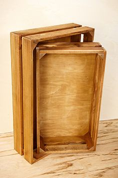 Joelle Wood Crates (Set of 2)