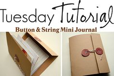 DIY - Button & String Mini-Journals. Full Step-by-Step Tutorial. Love.