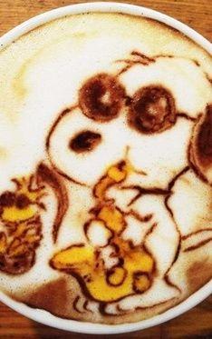 Snoopy Jazz Latte Art
