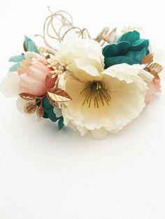 Tieback Flower Crown, Bridal Crown, Toddler Flower Crown, Woodland Fairy, Baby…