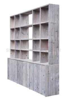 Wandkast steigerhout | Steigerhouttuinmeubels.nl