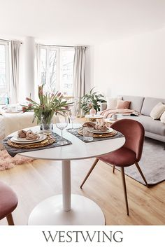 Pin & win een voucher van € 1000 voor WestwingNow - Lilly is Love Cozy Living Rooms, Home And Living, Minimalist Dining Room, Nature Table, Home Economics, Living Room Inspiration, Decoration, Dining Table, Furniture
