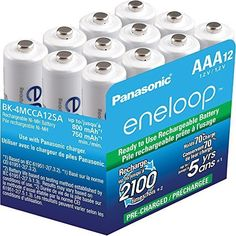 #NewEgg: 12-Pack Panasonic Eneloop AAA 800 mAh Ni-MH Pre-Charged Rechargeable Batteries (BK-4MCCA12SA) for $21.9... #LavaHot http://www.lavahotdeals.com/us/cheap/12-pack-panasonic-eneloop-aaa-800-mah-ni/104048
