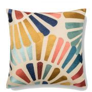 Multi-color accent pillow