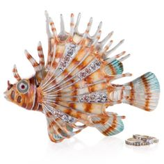 Jeweled Lion Fish Trinket Box from Z Gallerie