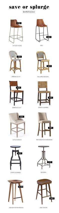 Save or Splurge - Barstools