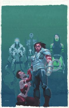 Uncanny X-Force 13 Cover Esad Ribic AoA Weapon X Wolverine as Apocalypse Comic Art