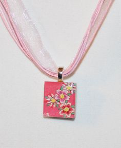 Cherry Blossoms Ed Hardy Tattoo Inspired Scrabble Tile by GreyGyrl, $5.00