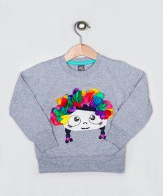 Loving this Gray Rainbow Hair Girl Sweatshirt - Infant, Toddler & Girls on #zulily! #zulilyfinds