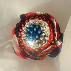 Red White Blue Rose Decorative Ball by beautifulswagstore on Etsy, $20.00 #handmadebot #boebot #hmcspooky
