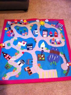 Jane's Girl Designs: Project One - Felt Playmat